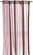 Arte Regal 19229–Vorhang, gestreift, 140x 260cm, lila/grau