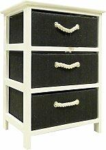 Arte Regal Import 17691–Regal aus Holz mit 3Schubladen, Weiß