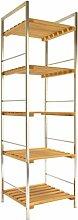 Arte Regal Import 26613–Bambus und Metall-Regal mit 5Regalböden, 30x 30x 108cm, hellbraun/Aluminium