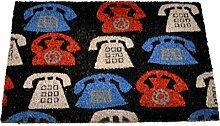 Arte Regal Import 30778 Fußabtreter, Design: Telefone, 40 cm x 60 cm, mehrfarbig