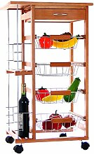 Arte Regal Import 74153 Küchenwagen mit 6 Einlageböden, Braun