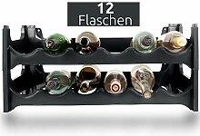 ARTECSIS Weinregal stapelbar Kunststoff für 12