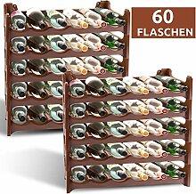 ARTECSIS Weinregal stapelbar Kunststoff für 60