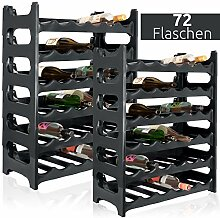 ARTECSIS Weinregal stapelbar Kunststoff für 72