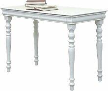 Arteferretto Linie BGN Schreibtisch mit Schublade, Holz, Weiß, 55x 110x 74cm
