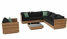 ARTELIA Bali Loungeset Terrassenmöbel aus Holz -