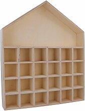 Artemio Adventskalender 24 Tampons, Holz, 27,5 x