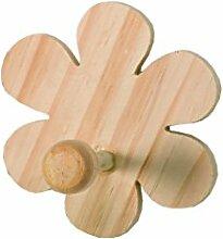 Artemio Flower Holz Kleiderbügel, Beige