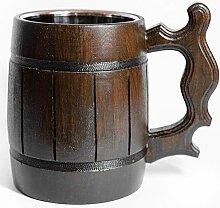 artenname Bier Becher aus Holz Bierkrug