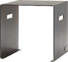 artepuro - Sitzhocker Cuber, geölter Stahl