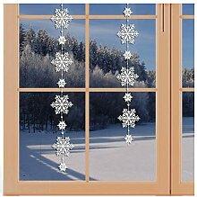 artex deko Girlande/Fensterbild Schnee-Stern