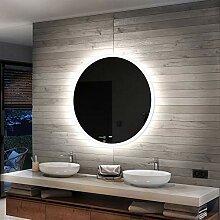 Artforma Rund Badspiegel mit LED Beleuchtung 55cm