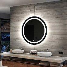 Artforma Rund Badspiegel mit LED Beleuchtung 80cm
