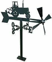 Arthifor Gartenlaterne mit Traktor Silhouette,