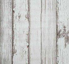 Arthome Selbstklebende Tapete Beige Holzoptik,