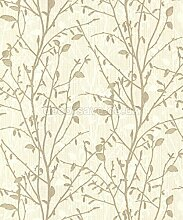 Arthouse 291501 Tapete Wandverkleidung, gold