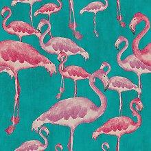 Arthouse, Arthouse Flamingo Beach Fuchsia Tapete, Pink