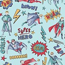 Arthouse blau multi Superheld Tapete Comic Thema
