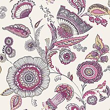 Arthouse Catarina Floral Blatt Muster Tapete Modern Metallic Motiv Jacobean