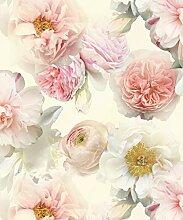 Arthouse Diamant Bloom Floral Blush Tapete–Rose Vinyl Glitzer Rosa