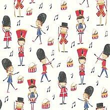Arthouse-Drummer Boy Soldat Tapete - Rot - 696003