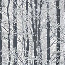 Arthouse Frosted Holz Wald Muster Bäume Glitzer Winter Tapete 670200