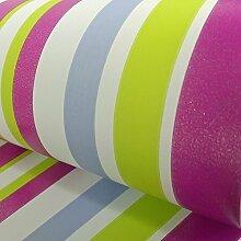 Arthouse Funkeln Streifenmuster Glitzer Motiv Gestreift Farbe Tapete - Lila 668801