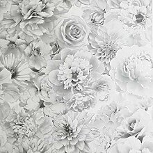Arthouse Glitter Bloom Silver 692803 Tapete