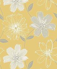 Arthouse Glitter Samba Floral Yellow 699908 Tapete