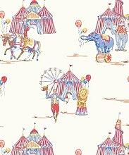 Arthouse Imagine Spaß Tapete Zirkus Spaß Rot/Blau 696001 - Rot/Blau, Full Roll
