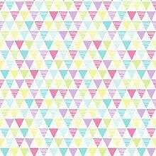 Arthouse Jester Bright Mehrfarbig Dreiecke Tapete für Kinder Schlafzimmer 696005