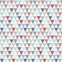 Arthouse Jester Rot und Blau Dreiecke Tapete für Kinder Schlafzimmer 696007