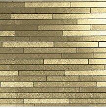 Arthouse Vinyl-Tapete Ziegelstein, gold, Full Roll