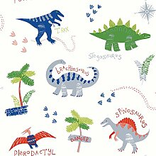 Arthouse Wallpaper Dino Doodles Multi 667500