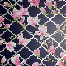 Arthouse Wallpaper Tapete, Navy, Double Roll