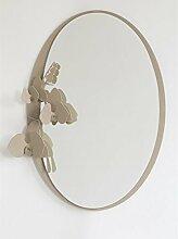 ARTI E MESTIERI Spiegel Orchidee beige