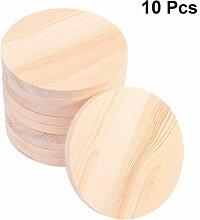 Artibetter Unvollendete Holz Runde Ausschnitte