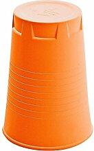 Artificial Qoffee-Stool, Hocker/Papierkorb orange