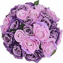 Artiflr Künstliche Blumen Rosenstrauß 2 Stück