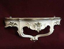 Artissimo Barock Konsole, Wandkonsole Weiß Silber