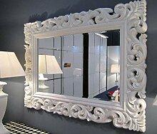 Artissimo Großer Barock Wandspiegel Weiß