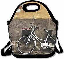 Artistic Bike Durable Outdoor Lunch Bag Lunch Box