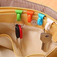 artistic9(TM) 6Schlüssel Ring Aufhänger Schlüsselhalter Haken Organizer Werkzeuge für Handtasche Rucksack