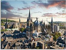 Artland Glasbild Aachen Panorama I, Deutschland,