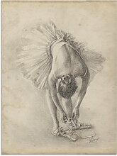 Artland Glasbild Antike Ballerina Übung I 45x60