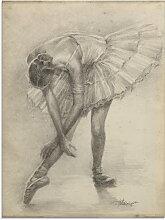 Artland Glasbild Antike Ballerina Übung II 60x80