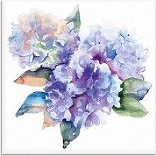 Artland Glasbild Hortensien, Blumen (1 Stück) 20