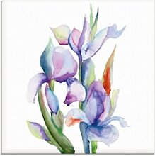 Artland Glasbild Iris, Blumen (1 Stück) 20 cm x