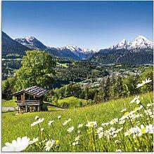 Artland Glasbild Landschaft in den Bayerischen