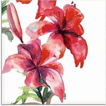 Artland Glasbild Lilien, Blumen (1 Stück) 20 cm x
